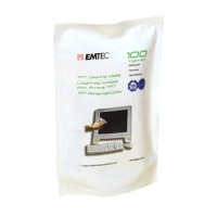 """Салфетки EMTEC Refill 100 шт """"3 in 1 TFT Screen Cleaning"""" (TFT/PDA/LCD)"""