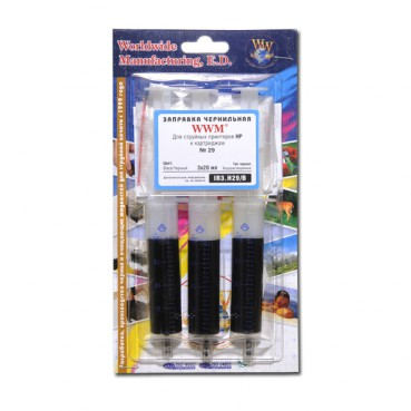 INKJET Refill Kit HP 51629A Black (3x20ml) IR3.H29/B